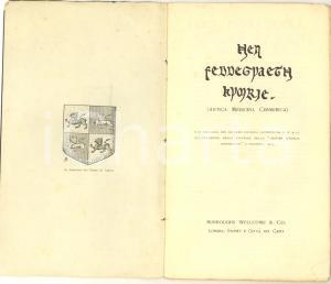 1903 Hen Feddegyaeth Kymrie - Antica MEDICINA CIMMERICA *Burroughs Wellcome & Co