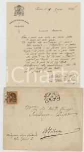 1896 TORINO Lettera mons. Davide RICCARDI su un aspirante intendente *Autografo