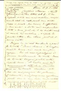 1900 ROMA Giuseppe Maria SERRALUNGA lamenta i propri difetti fisici *Autografo
