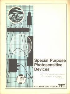 1970 ITT ELECTRON TUBE DIVISION Special Purpose Photosensitive Devices *Catalog