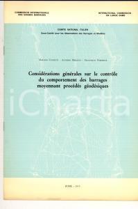 1973 CUNIETTI - MARAZIO - VERONESE Contrôle du comportement des barrages