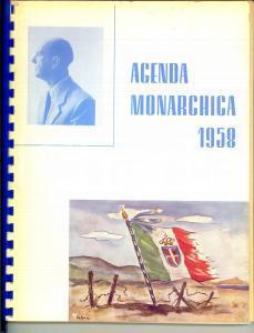 1958 AGENDA MONARCHICA a cura di Enzo FEDELI - ILLUSTRATA *Ed. SUPERGA 21x28