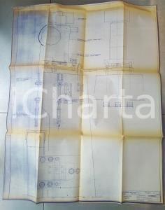 1970 OFFICINE GALILEO MILANO Telemisuratore a nastro *Schema 80x95 cm