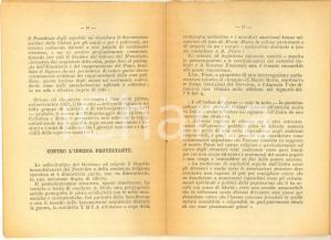 1924 PNF PROPAGANDA Religione e clero nell'opera del governo fascista 31 pp.