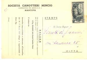 1953 MANTOVA SOCIETA' CANOTTIERI MINCIO Cartolina per assemblea e OdG *FG