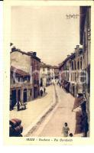 1953 VOGHERA (PV) Veduta di via GARIBALDI *Cartolina postale ANIMATA FP VG