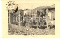 1908 MESSINA TERREMOTO Piazza Vittoria *Cartolina postale PRO SUPERSTITI FP