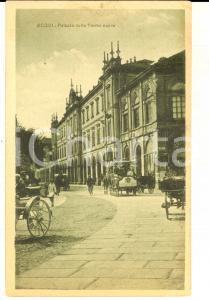 1915 ca ACQUI TERME (AL) Palazzo delle Terme Nuove *Cartolina ANIMATA omnibus