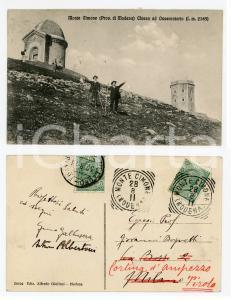 1911 MONTE CIMONE Chiesa e osservatorio *Cartolina ANIMATA - Arturo ALBERTONI