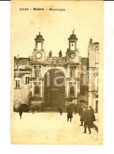 1930 ca MATERA Veduta del municipio *Cartolina postale ANIMATA FP NV