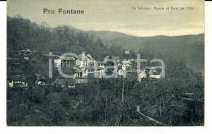 1928 AGARLA DI BREIA (VC) Veduta panoramica - PRO FONTANE *Cartolina postale VG
