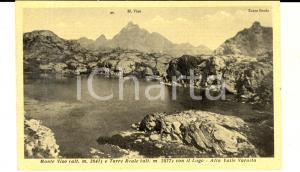 1950 ca ALTA VALLE VARAITA Veduta del Monviso con la Torre Reale *Cartolina FP