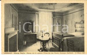 1930 ca LEGNAGO (VR) Albergo PAGLIA Stanza ove fu ospitato Garibaldi *Cartolina