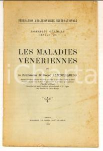 1929 Rocco SANTOLIQUIDO Les maladies vénériennes *FEDERATION ABOLITIONNISTE