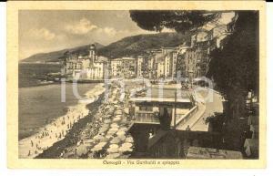 1930 ca CAMOGLI (GE) Via GARIBALDI e spiaggia *Cartolina postale FP NV