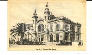 1930 ca BARI Veduta del Teatro MARGHERITA *Cartolina postale VINTAGE FP NV