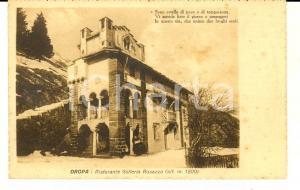 1928 OROPA (BI) Ristorante GALLERIA ROSAZZA *Cartolina postale FP NV