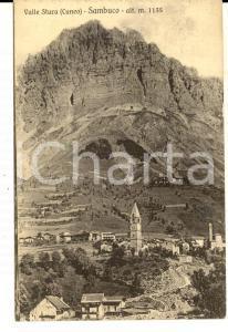 1930 SAMBUCO (CN) Panorama del paese in VALLE STURA *Cartolina postale FP NV