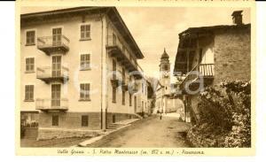 1930 ca SAN PIETRO MONTEROSSO (CN) Panorama del paese *Cartolina FP NV
