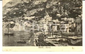 1937 AMALFI (SA) Veduta della marina *Cartolina ANIMATA barche FP VG