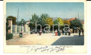 1905 ca SALSOMAGGIORE TERME (pr) Veduta di viale Romagnosi *Cartolina ANIMATA FP