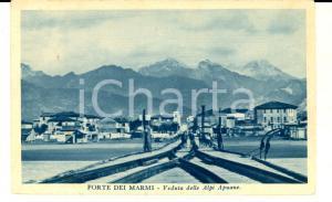 1934 FORTE DEI MARMI (LU) Veduta con le ALPI APUANE *Cartolina postale FP VG