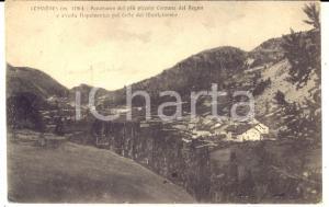 1919 CLAVIERES  Panorama con la strada napoleonica per il MONGINEVRO *Cartolina