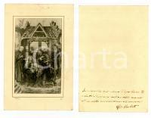 1940 ca MILANO Santino NATIVITA' con dedica Cesare VERLATO *Autografo