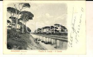 1902 RAVENNA Canale nella pineta di CLASSE *Cartolina VINTAGE ANIMATA FP VG