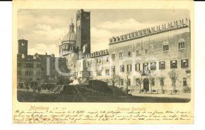 1900 MANTOVA Veduta di piazza SORDELLO *Cartolina ANIMATA VINTAGE FP VG