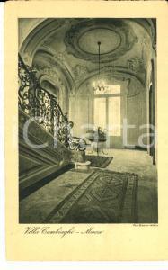 1930 ca MONZA Atrio e scalone di VILLA CAMBIAGHI *Cartolina postale FP NV