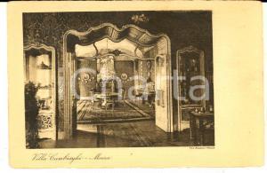 1930 ca MONZA Una salotto di VILLA CAMBIAGHI *Cartolina postale FP NV