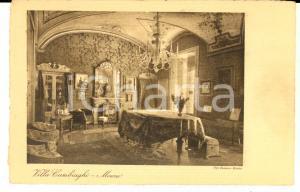1930 ca MONZA Una sala di VILLA CAMBIAGHI *Cartolina postale FP NV