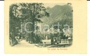 1900 ca ROSAZZA (BI) Panorama dall'ingresso del paese *Cartolina ANIMATA FP NV