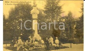 1915 UDINE Monumento a CAVALLOTTI e giardino RICASOLI *Cartolina ANIMATA bambini