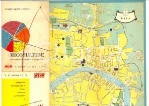 1956 Farmaceutica ZAMBON -  MICOSULFIDE *Mappa PISA pubblicitaria pieghevole