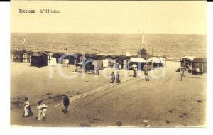1915 ca RICCIONE (RN) Spiaggia con le cabine sull'Adriatico *Cartolina VINTAGE