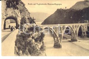 1915 PINZANO AL TAGLIAMENTO (PN) Ponte sul fiume per RAGOGNA *Cartolina ANIMATA