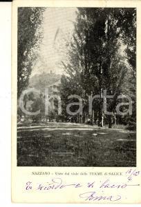 1903 SALICE TERME (PV) Veduta del castello di NAZZANO *Cartolina FP VG