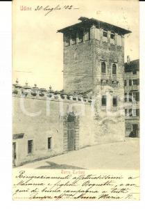 1902 UDINE Veduta della TORRE TURIANI *Cartolina postale FP VG