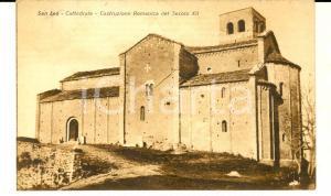 1928 SAN LEO (RN) La cattedrale romanica del secolo XII *Cartolina postale FP VG