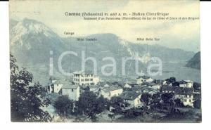 1913 CIVENNA (CO) Panorama con HOTEL CASTELLO e BELLE VUE *Cartolina FP VG