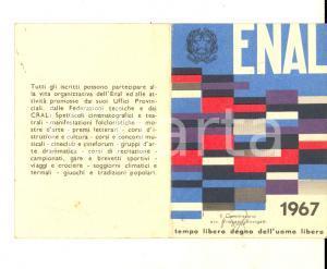 1967 ENAL CARBONARA DI PO - Tessera associativa