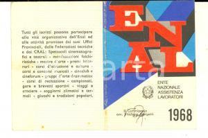 1968 ENAL CARBONARA DI PO - Tessera associativa