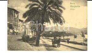 1914 SANTA MARGHERITA LIGURE (GE) Veduta del porto *Cartolina ANIMATA calesse