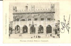 1902 PIACENZA Palazzo Comunale *Cartolina postale ANIMATA FP VG