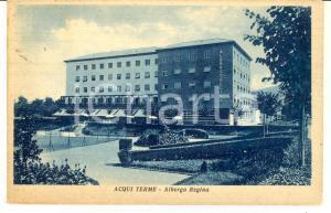 1949 ACQUI TERME (AL) Facciata dell'Albergo REGINA *Cartolina postale FP VG