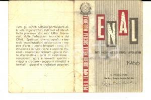 1966 ENAL CARBONARA DI PO - Tessera associativa *DANNEGGIATA