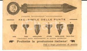 1920 MILANO Vetraria BREMOND & C. Cartolina pubblicitaria iILLUSTRATA punte