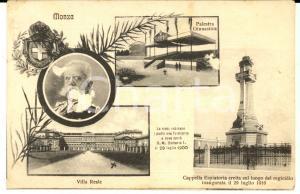 1917 MONZA Vedutine con Villa Reale - Regicidio *Cartolina postale FP VG